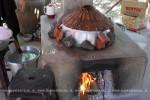 Производство рисовых лепёшек Печь